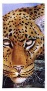 Leopard In A Tree Bath Towel