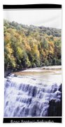 Letchworth State Park Middle Falls Panorama Bath Towel