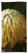 Leucospermum  -   Yellow Pincushion Protea Bath Towel