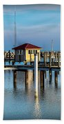 Lexington Harbor With No Boats Bath Towel
