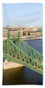 Liberty Bridge And Budapest Skyline Bath Towel