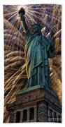 Liberty Fireworks Bath Towel