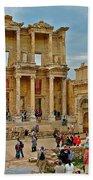 Library Of Celsus In Ephesus-turkey Bath Towel