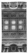 Library Of Congress Main Hall Ceiling Bw Bath Towel