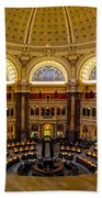 Library Of Congress Main Reading Room Hand Towel