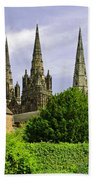 Lichfield Cathedral From The Garden Bath Towel