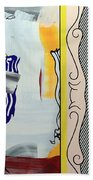 Lichtenstein's Painting With Statue Of Liberty Bath Towel