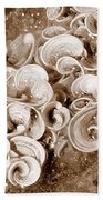 Life On The Rocks In Sepia Bath Towel