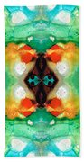 Life Patterns 1 - Abstract Art By Sharon Cummings Bath Towel