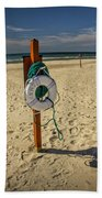 Life Preserver On The Beach In Pentwater Michigan Bath Towel