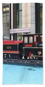 Life Size Toy Train Set In Nyc Bath Towel