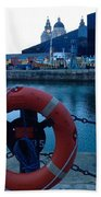 Lifebelt At Albert Dock Bath Towel