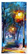 Light Of Luck - Palette Knife Oil Painting On Canvas By Leonid Afremov Bath Towel