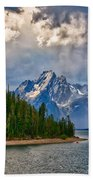 Light On Moran Bath Towel by Greg Norrell