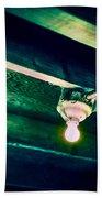 Lightbulb And Cobwebs Bath Towel