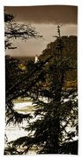 Lighthouse From The Distance Bath Towel