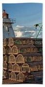 Lighthouse On A Channel By Cascumpec Bay On Prince Edward Island No. 094 Bath Towel