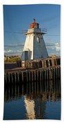 Lighthouse On A Channel By Cascumpec Bay On Prince Edward Island No. 095 Bath Towel