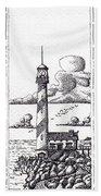 Lighthouse On A Cliff Bookmark Bath Towel