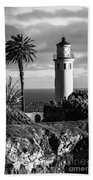 Lighthouse On The Bluff Bath Towel