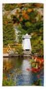 Lighthouse Through The Leaves Bath Towel