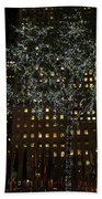 Lights In Rockefeller Center Bath Towel
