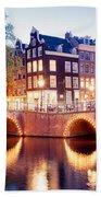 Lights Of Amsterdam Hand Towel