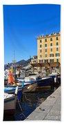 Liguria - Harbor In Camogli Bath Towel