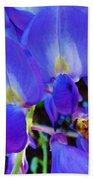 Lilac Blossom And Honey Bee Bath Towel