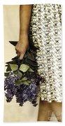 Lilac Bouquet Bath Towel
