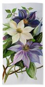 Lilac Clematis Bath Towel