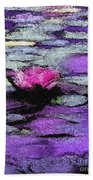 Lilac Lily Pond Bath Towel