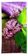 Lilac Still Life Bath Towel