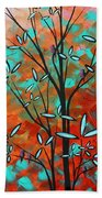 Lilly Pulitzer Inspired Abstract Art Colorful Original Painting Spring Blossoms By Madart Bath Towel