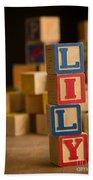 Lily - Alphabet Blocks Bath Towel