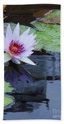 Lily Purple And White Bath Towel