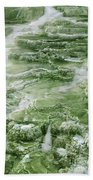 Limestone Detail Minerva Springs Yellowstone National Park Bath Towel