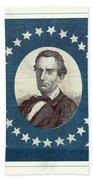 Lincoln 1860 Presidential Campaign Banner - Bust Portrait Bath Towel