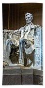 Lincoln In Memorial Bath Towel
