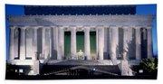 Lincoln Memorial At Dusk, Washington Bath Towel