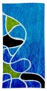 Linework Blue Bath Towel