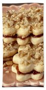 Linzer Cookies Bath Towel