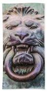Lion And Snake Bath Towel
