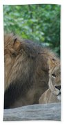 Lion Couple Bath Towel