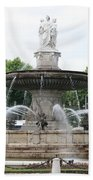 Lion Fountain - Aix En Provence Bath Towel