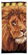Lion Of Judah - Menorah Bath Towel