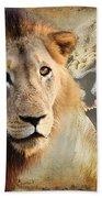 Lion Profile Bath Towel