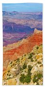 Lipan Point View On East Side Of South Rim Of Grand Canyon-arizona   Bath Towel