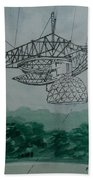 Amber Listening For Aliens At Arecibo Hand Towel