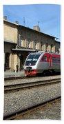 Lithuania. Silute Train Station. 2009 Bath Towel